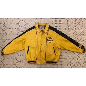 VTG Avirex Varsity Leather Jacket Iron Knights